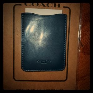 Coach Phone Wallet -Navy Blue